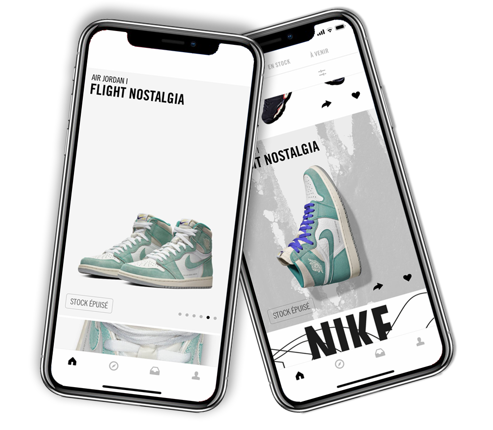 application mobile SNEAKRS