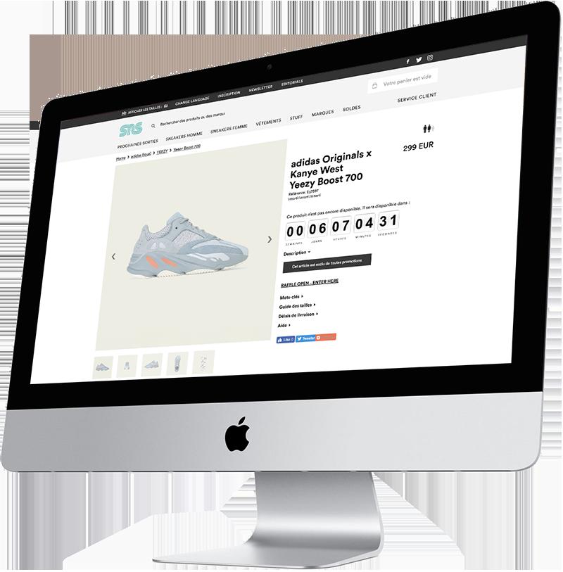 Les sneakers rares sont accessibles au travers de raffles